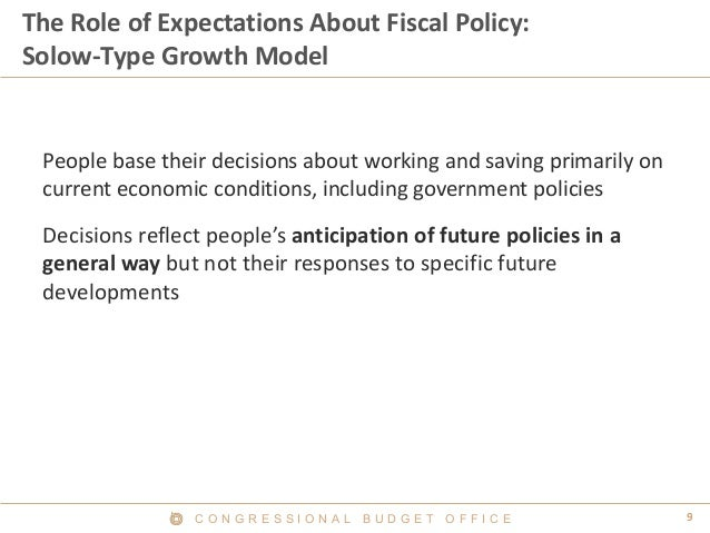 Dynamic effects of government policies in
