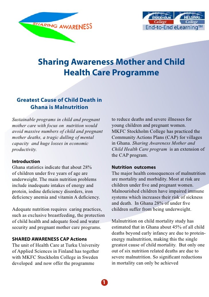 Sharing Awareness Mother and Child                    Health Care Programme    Greatest Cause of Child Death in        Gha...