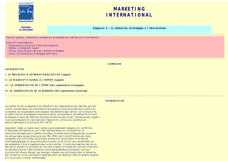 MARKETING                                                                                                INTERNATIONAL    ...