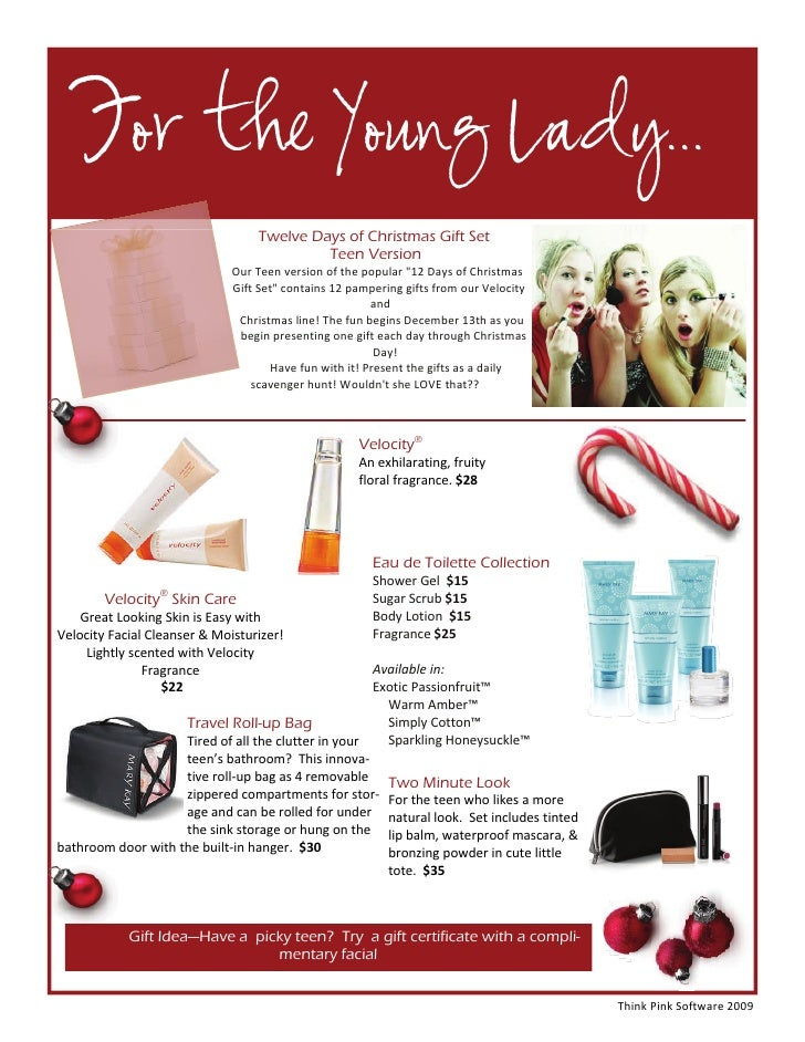 12 days of christmas gift ideas mary kay