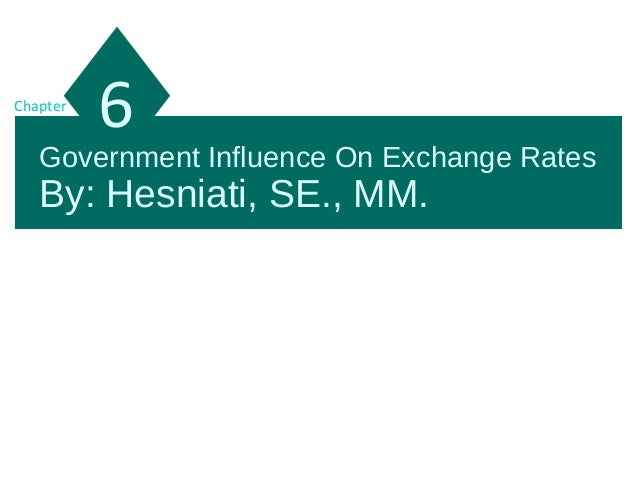 Government Influence On Exchange Rates By: Hesniati, SE., MM. 6Chapter