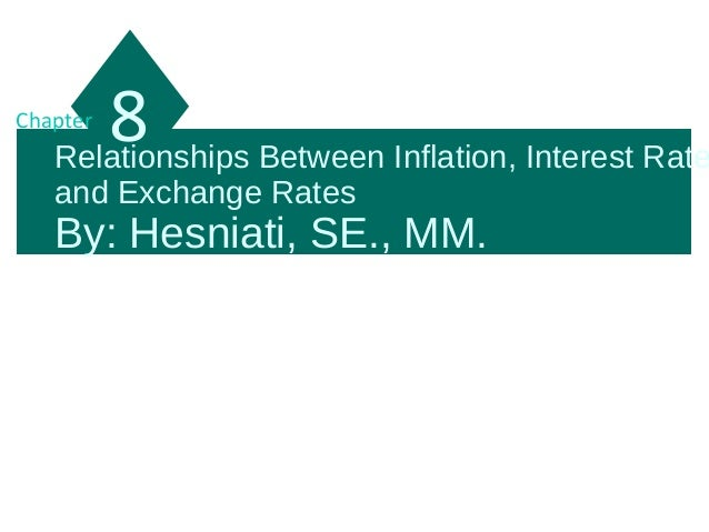Relationships Between Inflation, Interest Rate and Exchange Rates By: Hesniati, SE., MM. 8Chapter