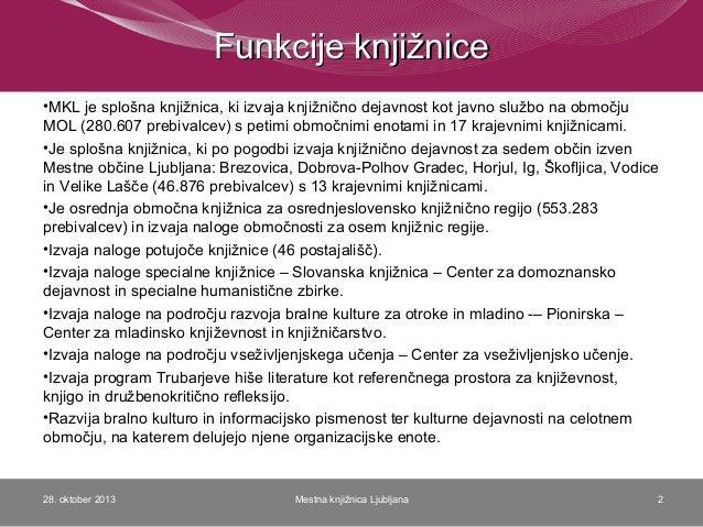 Strateško načrtovanje v Mestni knjižnici Ljubljana Slide 2