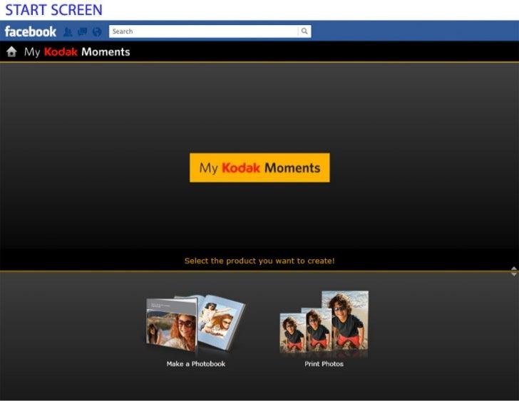 My KODAK MOMENTS Photo Book Screens