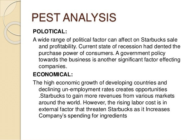 political factor starbucks