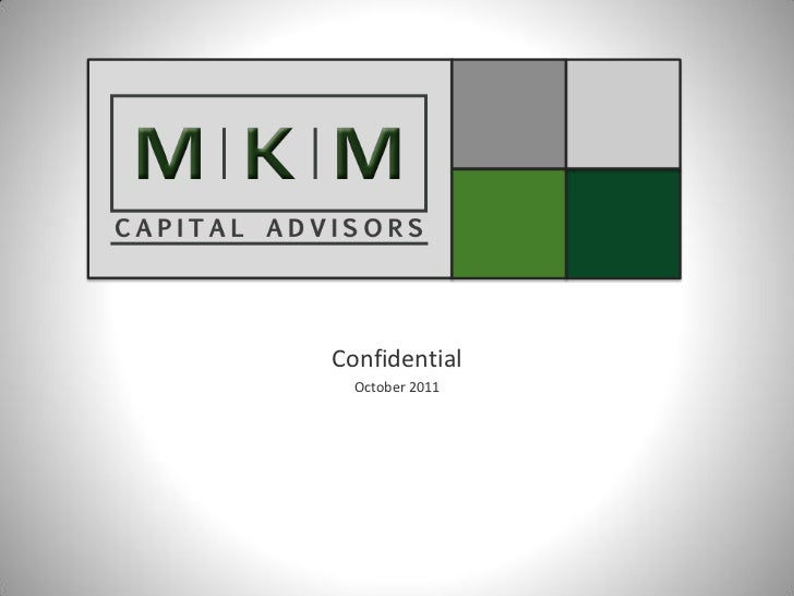 Confidential  October 2011