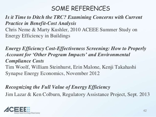 Review of Benefit-cost testing for Energy Efficiency Programs
