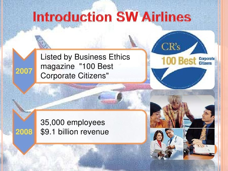 an introduction to herb kelleher and the culture of southwest airlines Introduction herb kelleher co-founded southwest airlines in 1971 it has grown to the point of having recent operating revenues of $ 76 billion this is particularly noteworthy since southwest airlines flies to only 62 cities in 32 states, and its average flight length is 537 miles its success is .