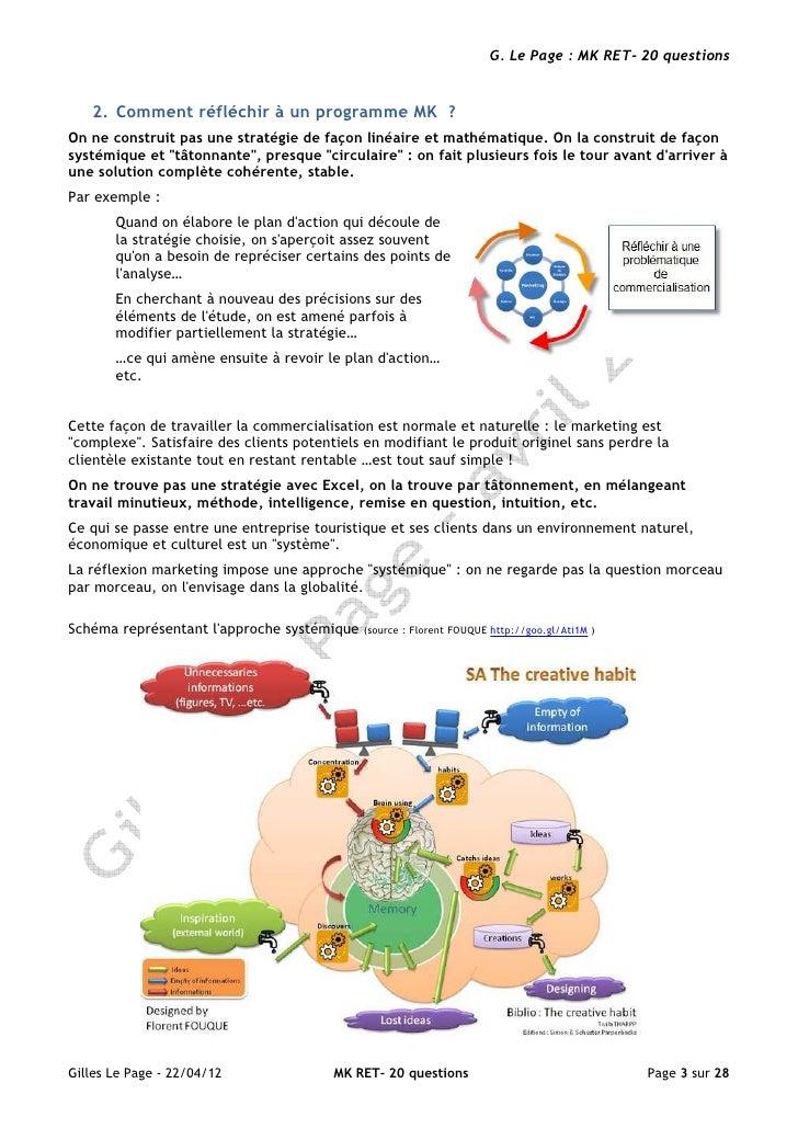 G. Le Page : MK RET- 20 questions   2. Comment réfléchir à un programme MK ?On ne construit pas une stratégie de façon lin...