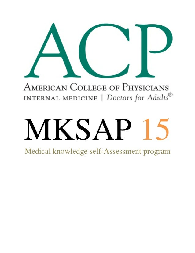 MKSAP 15Medical knowledge self-Assessment program