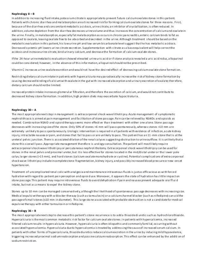 Mksap Review 2 26 19 Kidney Stones