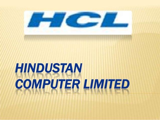 HINDUSTAN COMPUTER LIMITED