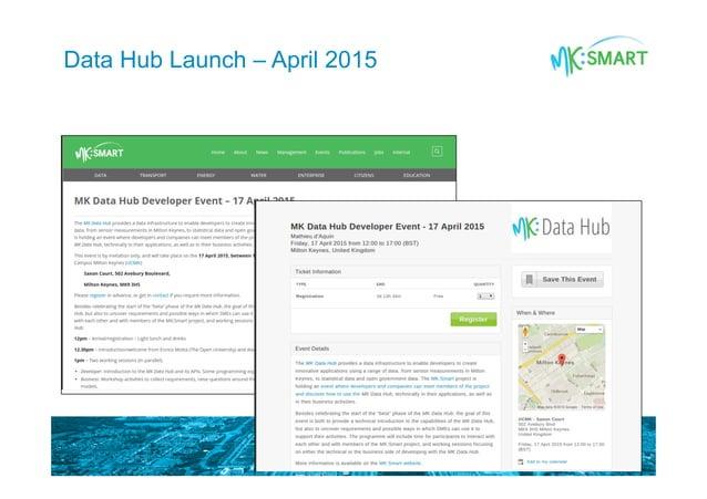 Data Hub Launch – April 2015
