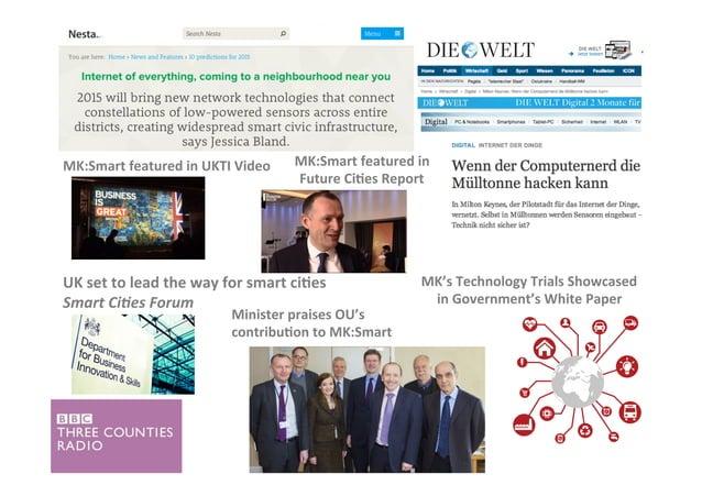 UK  set  to  lead  the  way  for  smart  ci'es   Smart  Ci)es  Forum   Minister  praises  OU's...