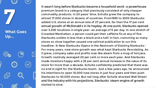 starbucks case for consumer behavior essay Starbucks is in a growth market, and it has a good relative  outlook for the coffee industry because of the large consumer base of the industry.