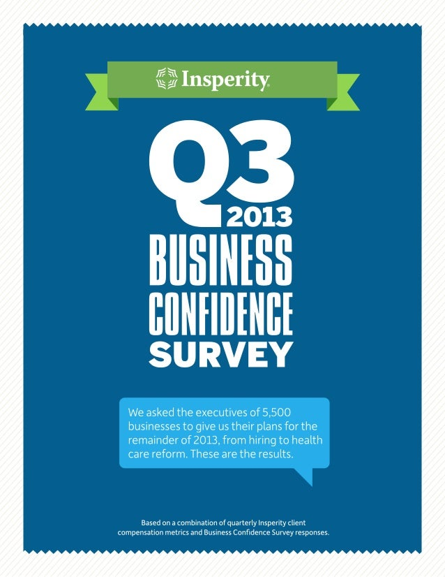 Infographic - Q3 Business Confidence Survey Results