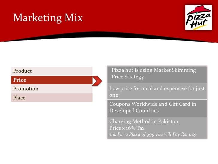 Marketing plan of pizza hut