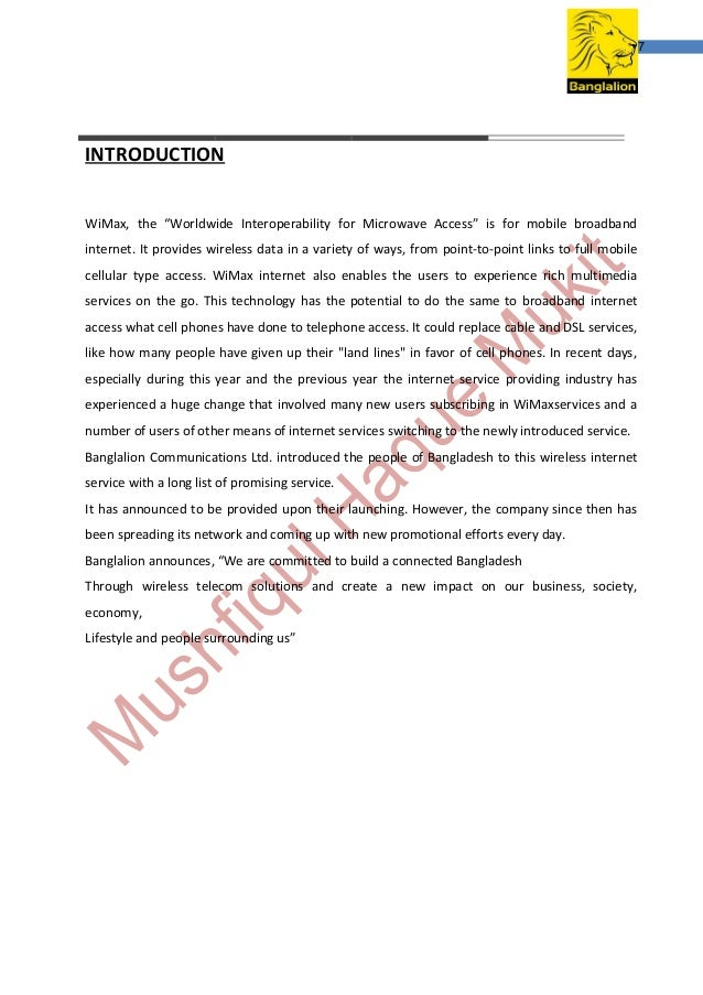 report on banglalion wimax ltd Sign in forgot password copyright 2014 banglalion all rights reserved.