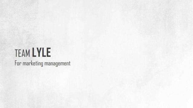 TEAM LYLE  Fur marketing management