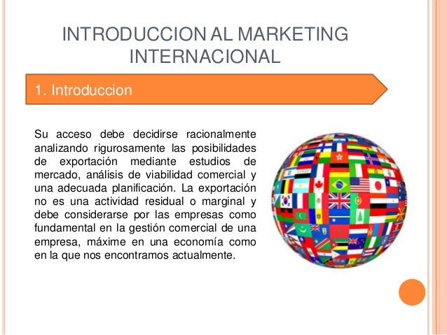 international marketing conclusion Synopsis international marketing 1 the scope and challenge of international marketing learning objectives what you should learn from module 1.