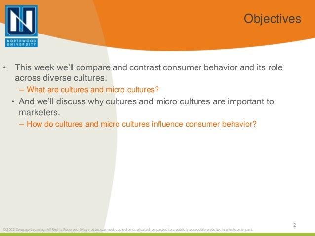 Consumer behavior across cultures