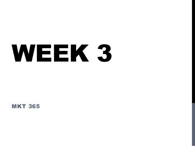 WEEK 3MKT 365
