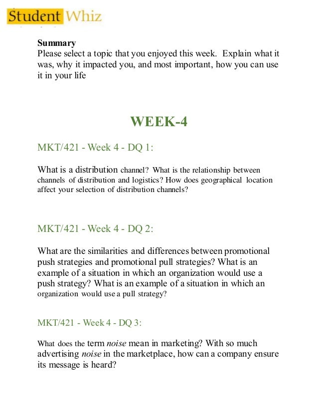 Marketing Plan Phase I – MKT 421 Team Paper