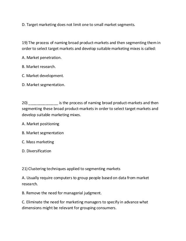 Mkt 421 guide 6 20) is the process of naming broad pr…