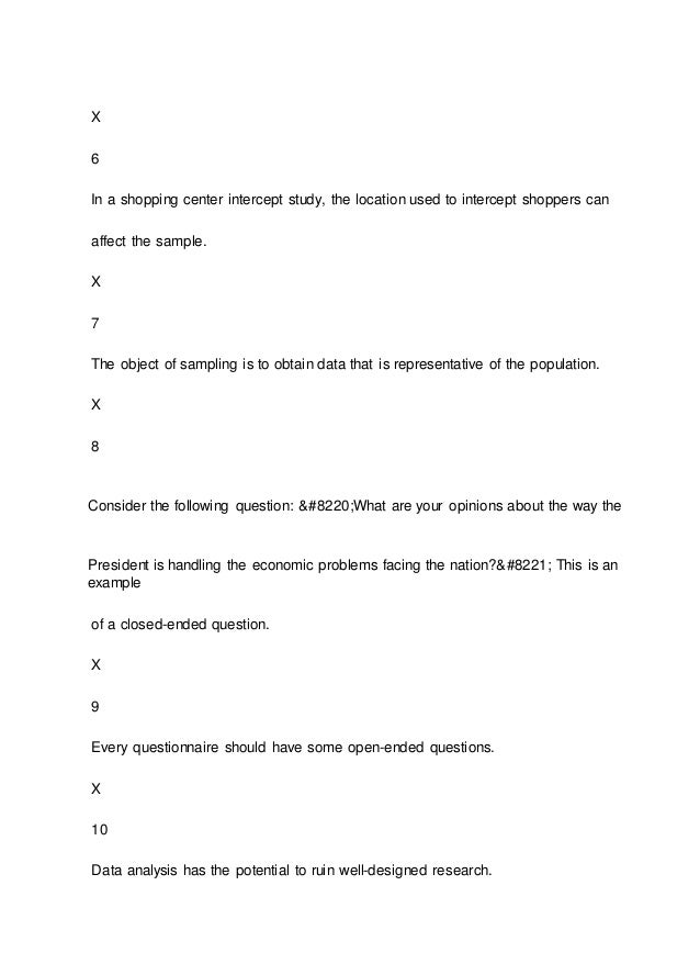 MKT 441 Final Exam 2015 version