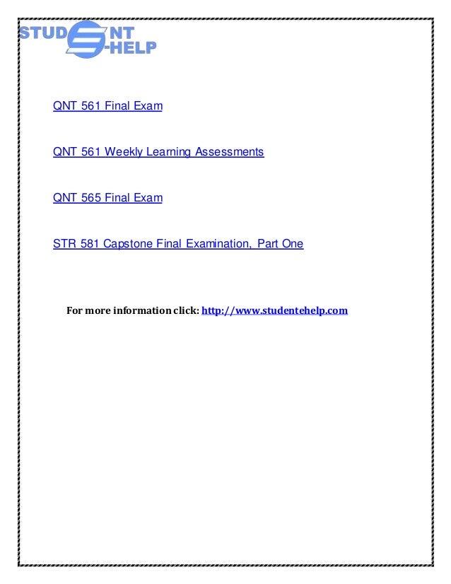 mkt 571 week 6 final exam Mkt 571 final exam guide (new)  mkt 571 week 1 assignment researching marketing questions mkt 571 week 2 assignment understanding target markets mkt 571 week 3.