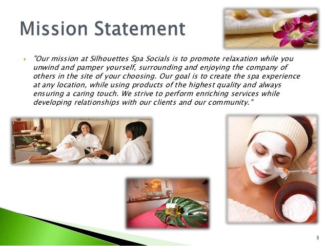 Silhouettes spa socials marketing strategy for A mission statement for a beauty salon