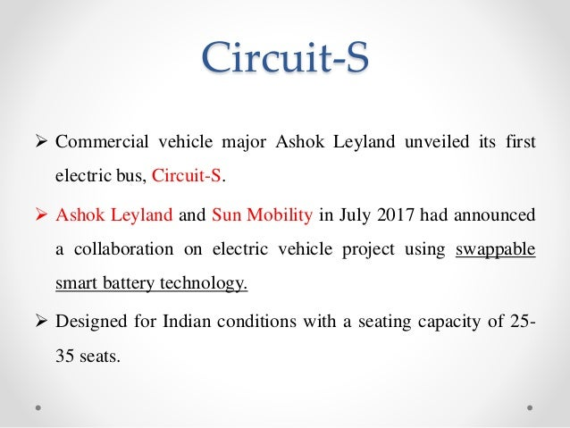Innovation in the Indian Market, Circuit-S