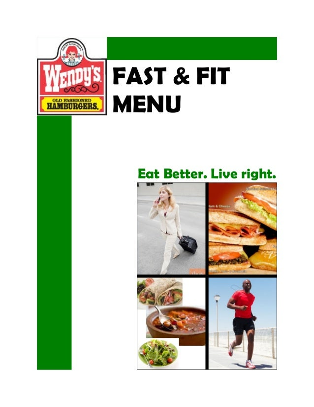 FAST & FIT MENU Eat Better. Live right.