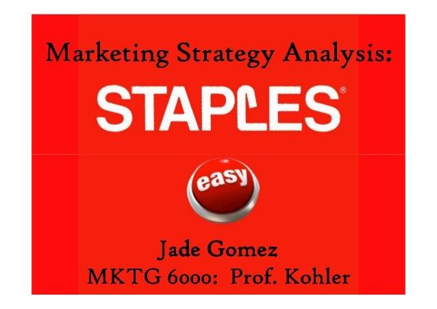 Marketing Strategy Analysis:Marketing Strategy Analysis:Marketing Strategy Analysis:Marketing Strategy Analysis: Jade Gome...