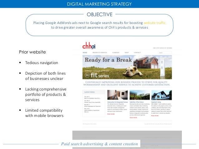 Mktg617 Digital Marketing Strategy For Chh Construction
