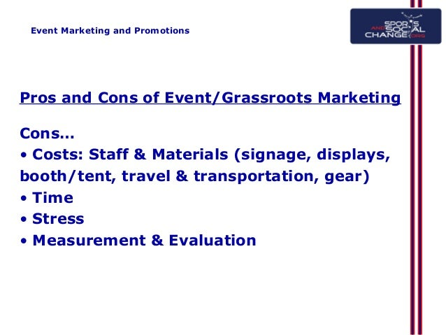 The pros and cons of advertising in sporting events