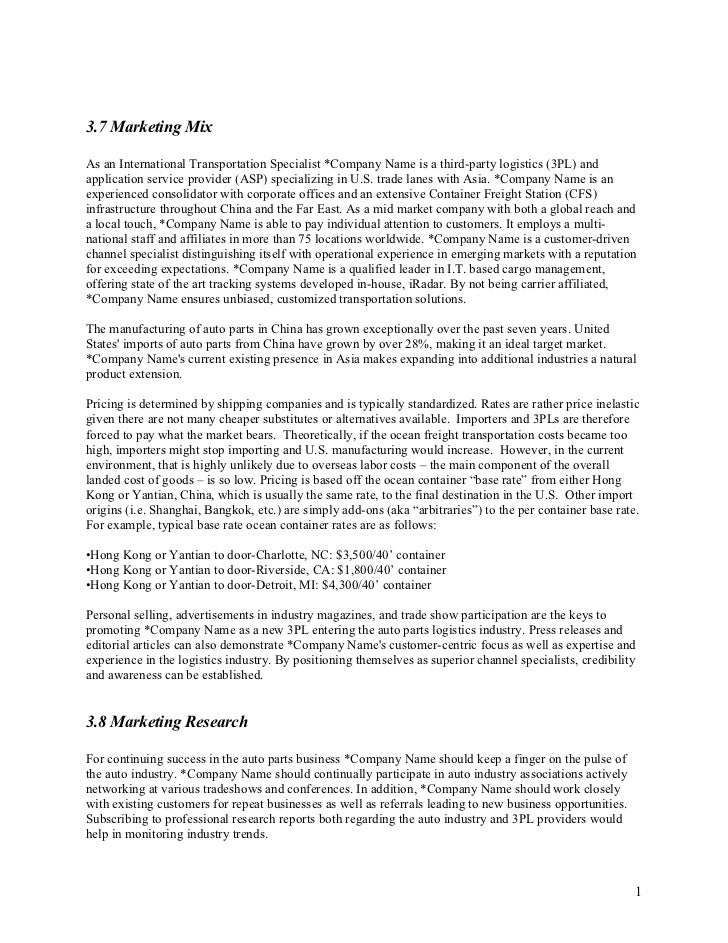 Marketing Proposal Letter Marketing Plan Sample