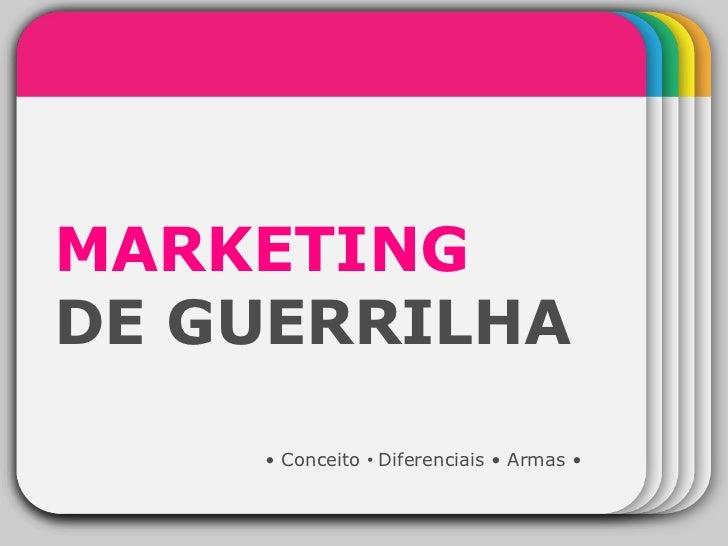 WINTER Template MARKETING   DE GUERRILHA •  Conceito  •  Diferenciais • Armas •
