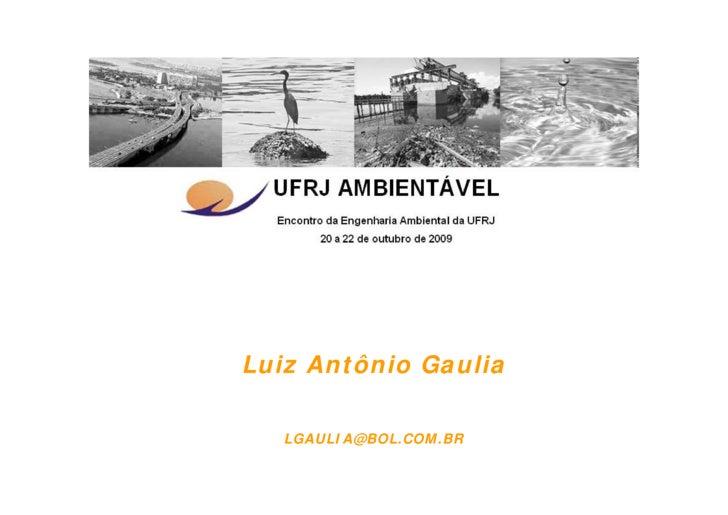 Luiz Antônio Gaulia     LGAULIA@BOL.COM.BR