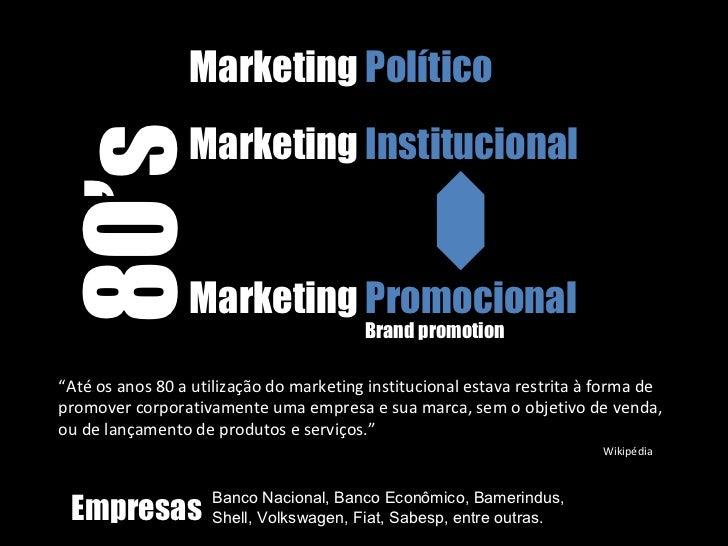 O Marketing Político e o Marketing Institucional: como um influencia o outro Slide 3