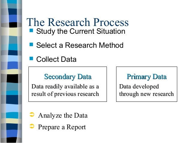 market research process The marketing research process : the marketing research process outlines six broad stages a researcher must ensure that great care is invested in.