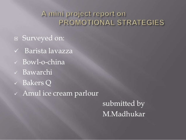 marketing project topics for bba