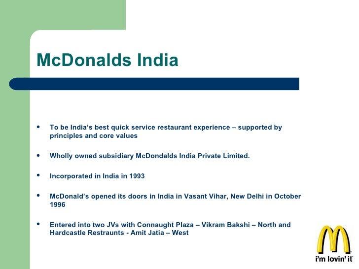 Unit 4 Marketing Principles Assignment - McDonalds