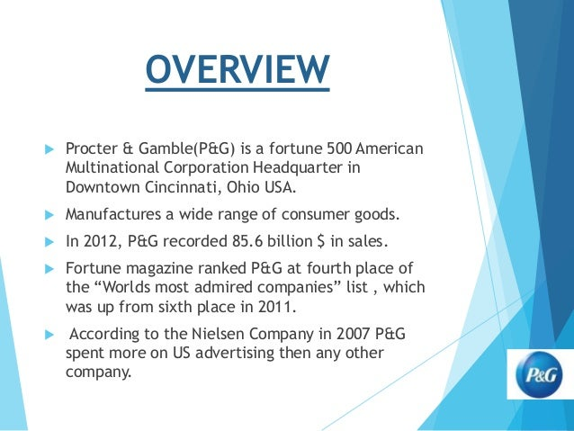 Proctor and gamble vision statement procter and gamble mariscala
