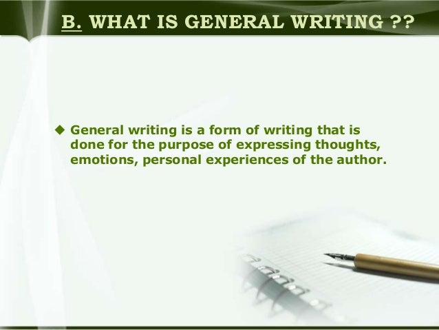 what is general writing
