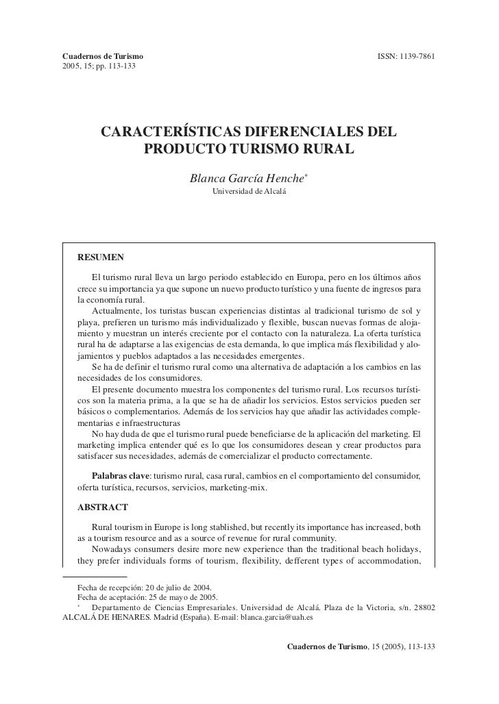 Cuadernos de Turismo                                                                     ISSN: 1139-78612005, 15; pp. 113-...