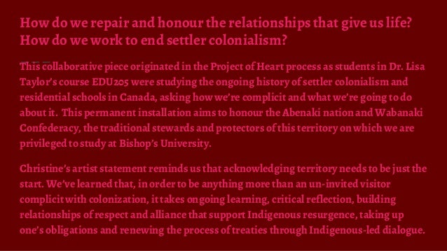 How do we repair and honour the relationships that give us life? How do we work to end settler colonialism? This collabora...