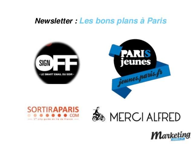 Newsletter : Les bons plans à Paris