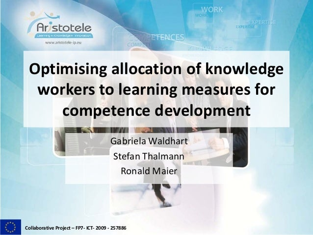 Collaborative Project – FP7- ICT- 2009 - 257886Optimising allocation of knowledgeworkers to learning measures forcompetenc...