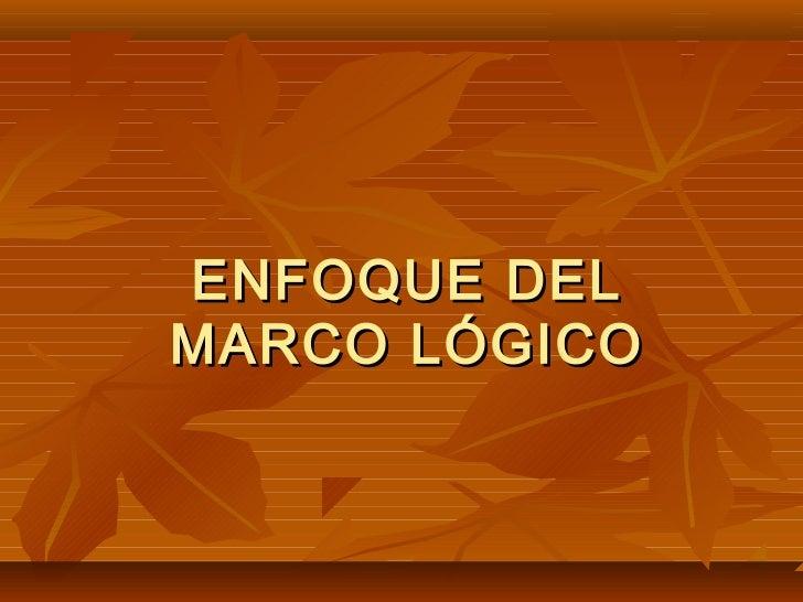 ENFOQUE DELMARCO LÓGICO